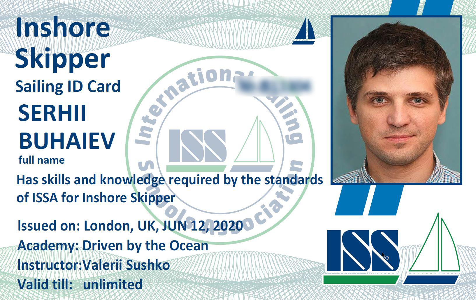 Inshore Skipper Card